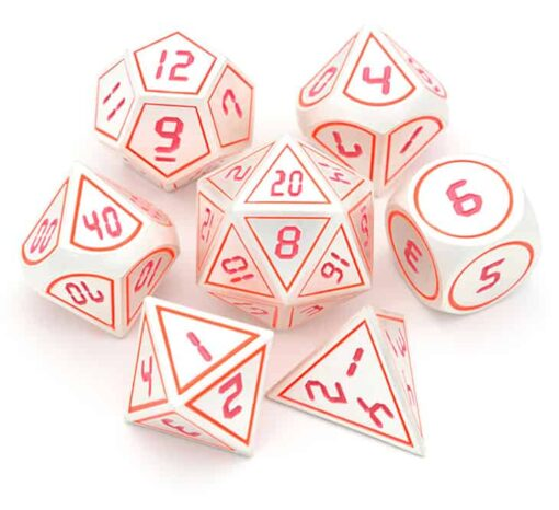dnd dice set red