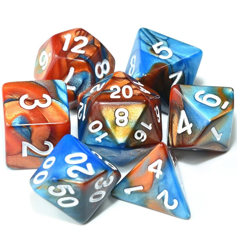 Aqua Copper - Dice Set