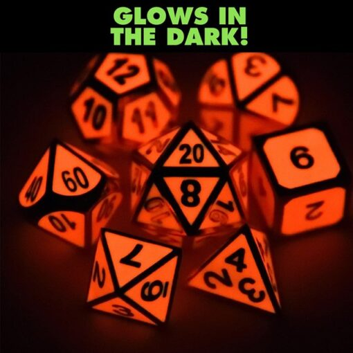 Glow in Dark Red Dice