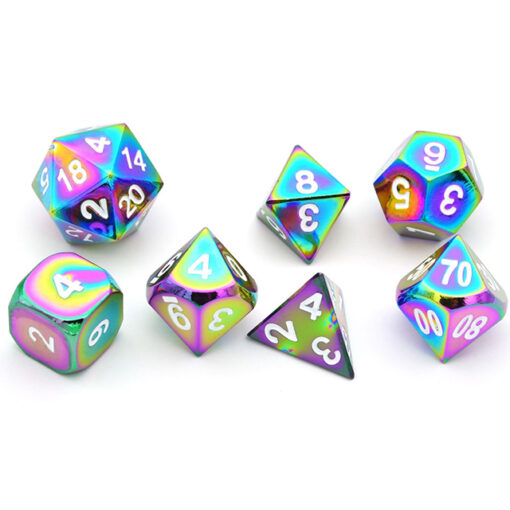 Super-Bright-Heavy-Glow-In-The-Dark-Metal-Dice-Set-of-D4-D6-D8-D10-D12_5