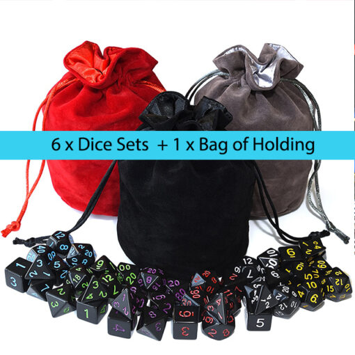 Raven Black Dice Set