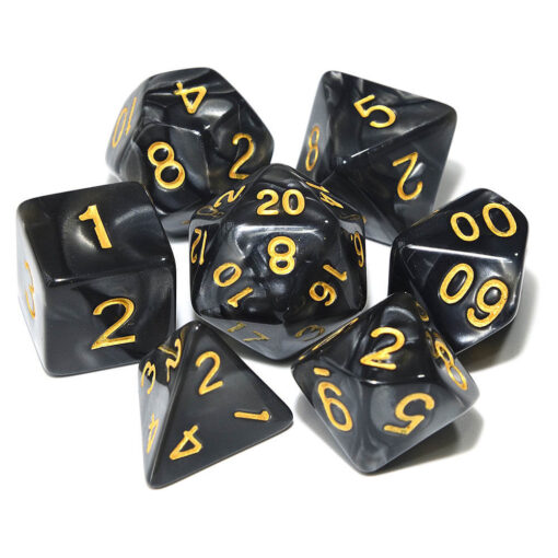 DND Black and Gold Dice