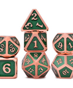 Green Metal Dice